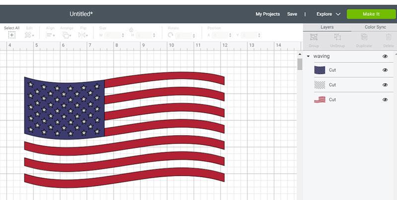 American Flag Svg Free 3
