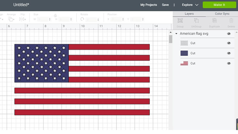 American flag cricut svg