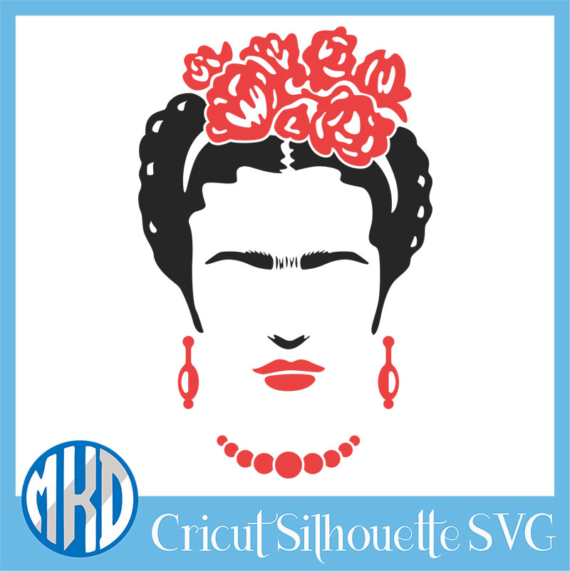 Frida Kahlo SVG
