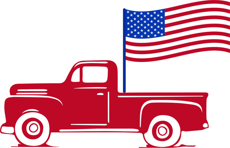 July 4th red car