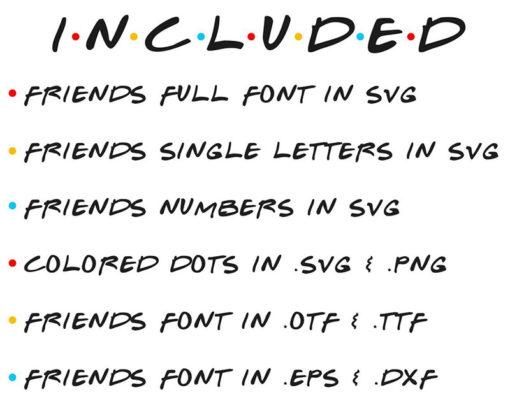 Friends font 4