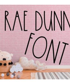 Rae dunn font 4 1
