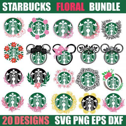 floral svg bundle starbucks