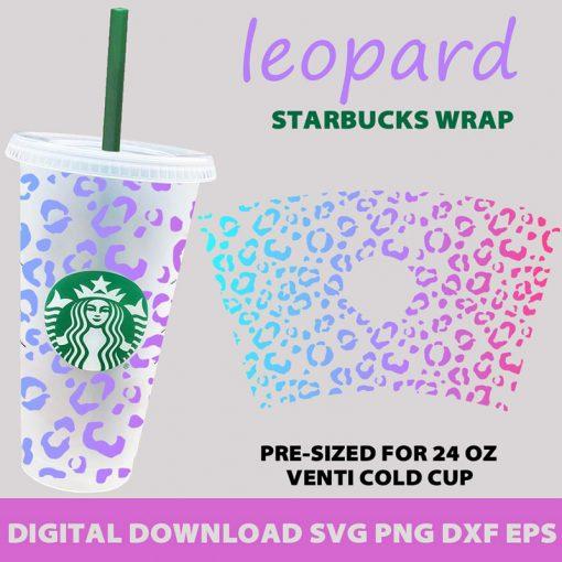 full wrap template leopard