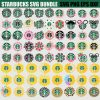 starbucks svg bundle floral