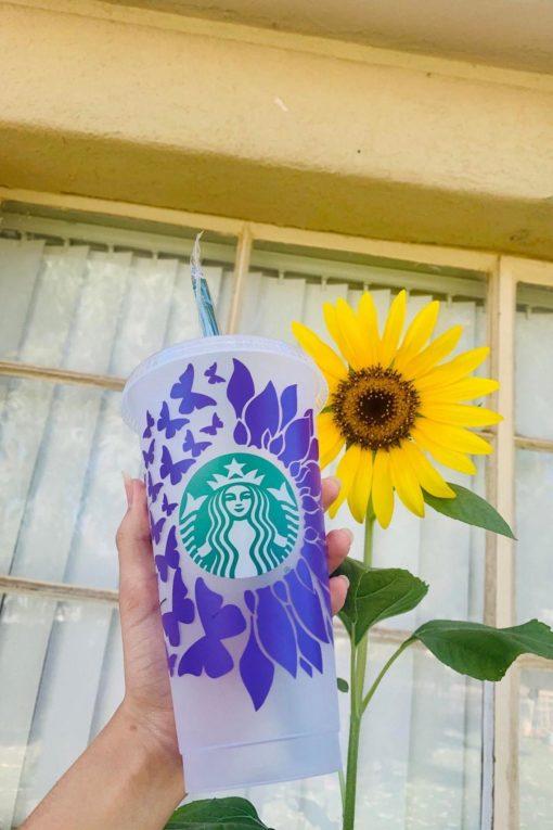 sunflower butterfly 3