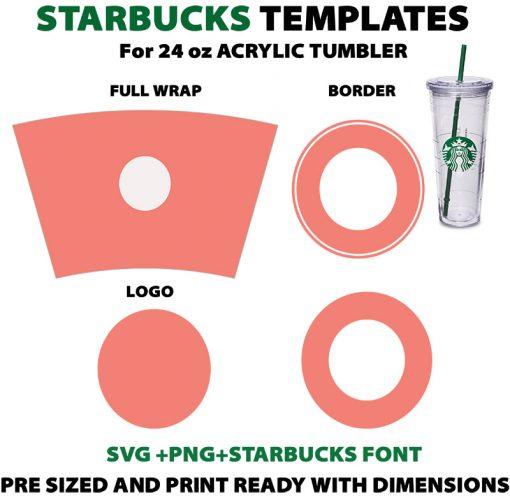 Template Starbucks 24 oz Acrylic Cup