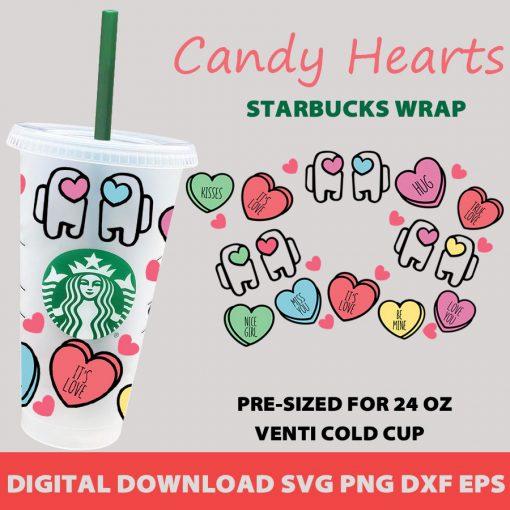 among us candy heart