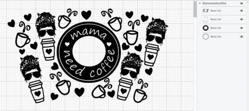 mama needs coffee full wrap starbucks layer