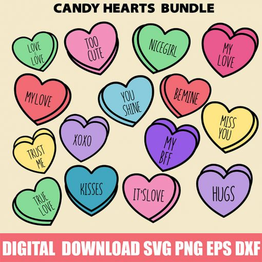 Candy Heart SVG Bundle 2