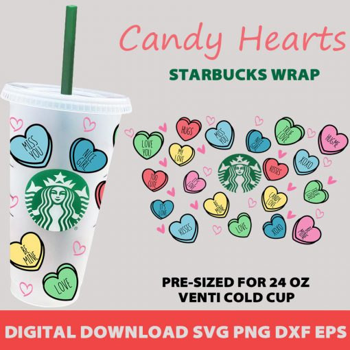 candy hearts full wrap