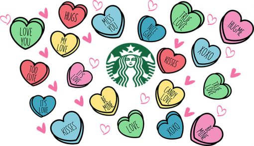 candy hearts full wrap starbucks cup
