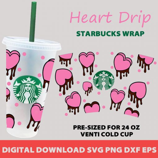 heart dripping full wrap