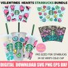 venlentines love full wrap starbucks svg bundle