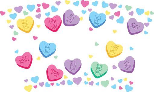 Candy heart full wrap starbucks svg 3