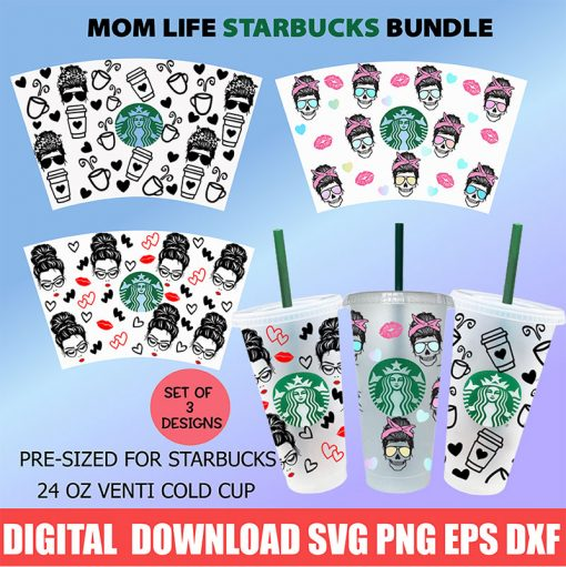 Mom life full wrap starbucks cup svg 1