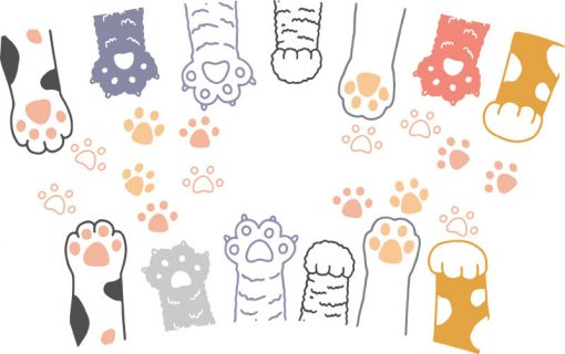 Paws full wrap starbucks cup svg 2