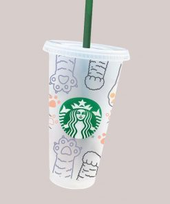 Paws full wrap starbucks cup svg 3
