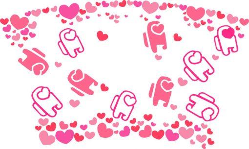 among us LOVE full wrap starbucks svg b