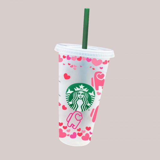 among us LOVE full wrap starbucks svg cold cup