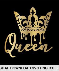 font queen crown svg