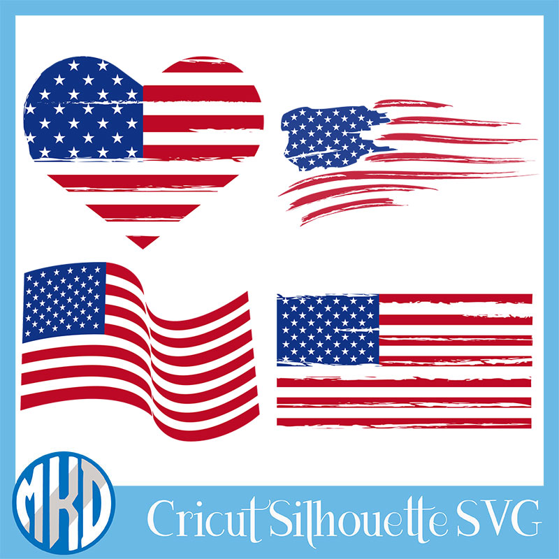 free Distressed Flag svg