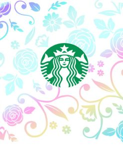 full wrap floral starbucks svg cold cup