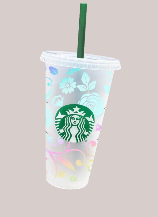 full wrap floral starbucks svg cup