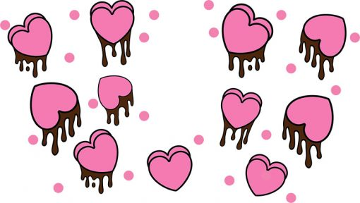 heart dripping full wrap starbucks hot cup svg 1