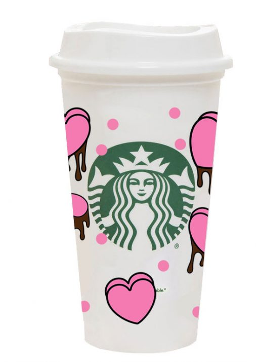 heart dripping full wrap starbucks hot cup svg 3