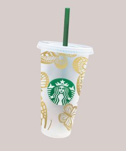 more butterfly full wrap starbucks svg Cold
