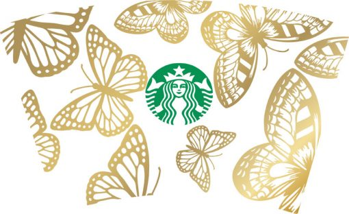 more butterfly full wrap starbucks svg cold cup