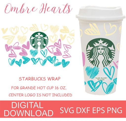 ombre hearts 16OZ HOT CUP