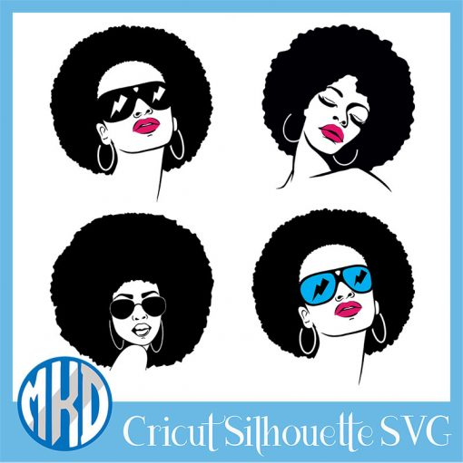 Free afro Woman svg