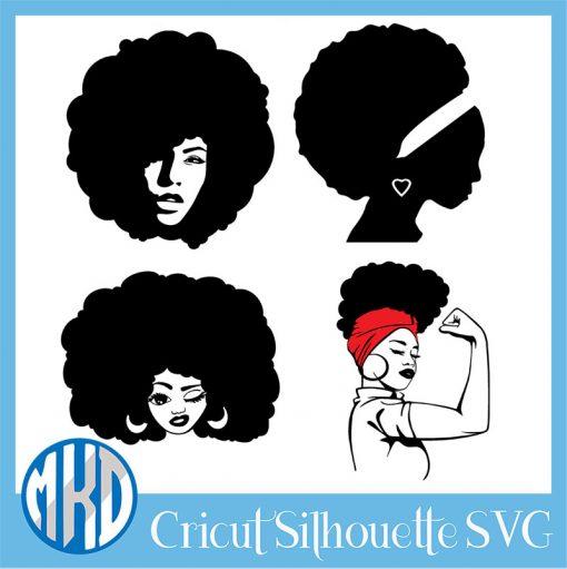 Free afro woman svg free