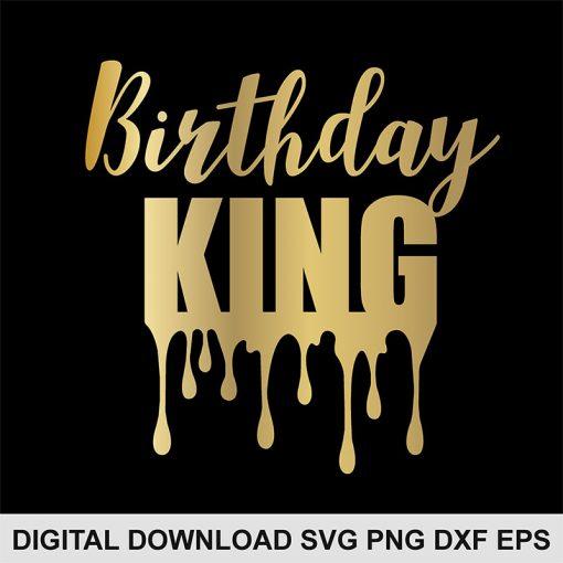 birthday king svg file