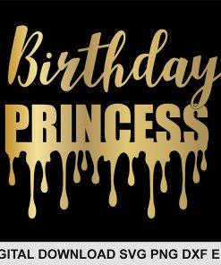 birthday princess svg FILE
