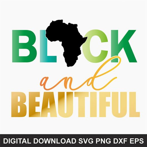 black and beautiful SVG