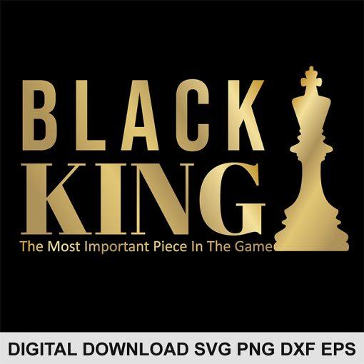 black chess king SVG