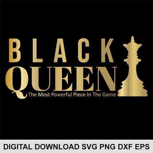 black chess queen svg