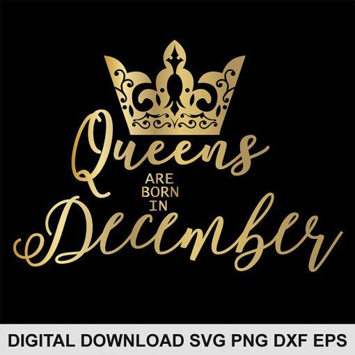 queen crown December svg