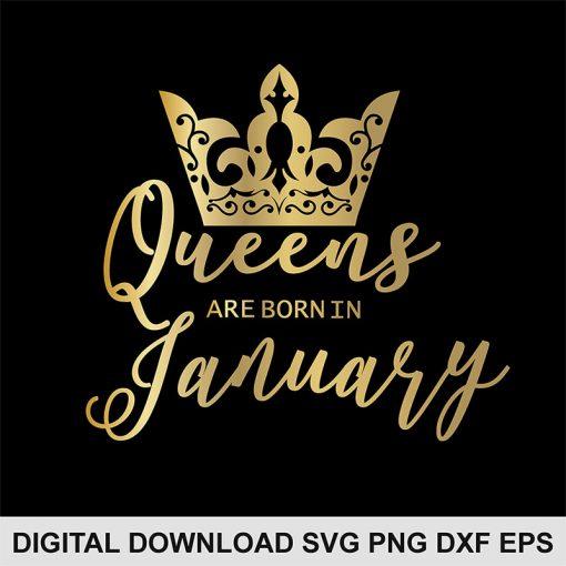 queen crown Jaruary svg