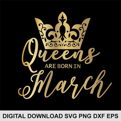 queen crown march svg