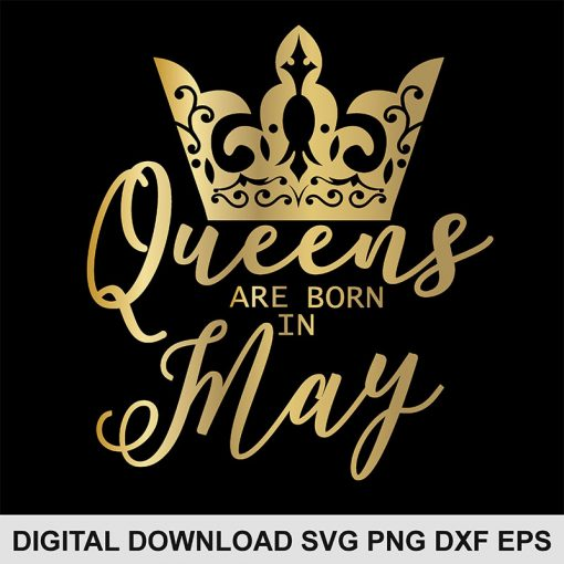 queen crown may svg