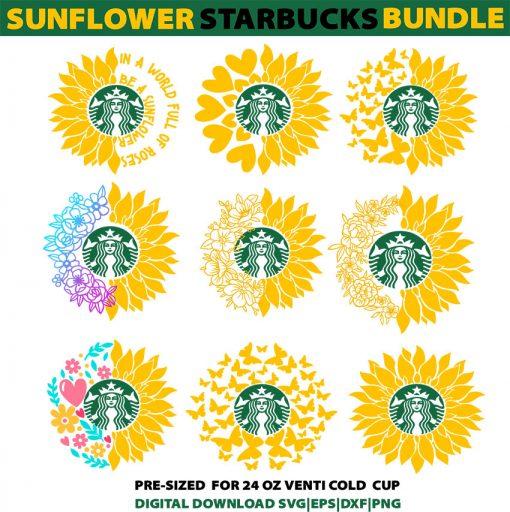 sunflower bundle svg png