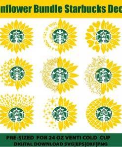 sunflower starbucks svg