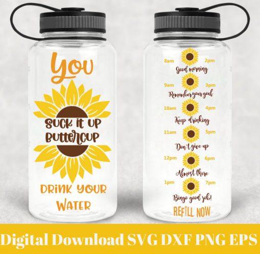 sunflower water tracker svg