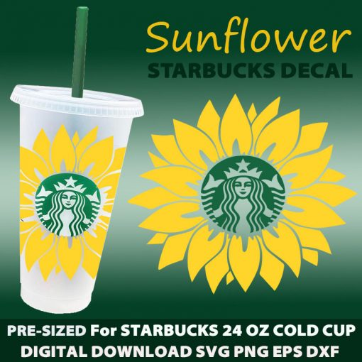 sunflower svg cold cup M