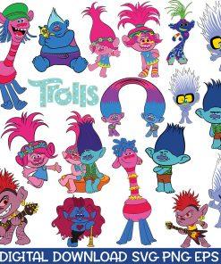 trolls svg bundle